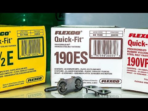 Замки для ленты 140CE Flexco® Bolt Solid Plate 140 Everdur® Видео